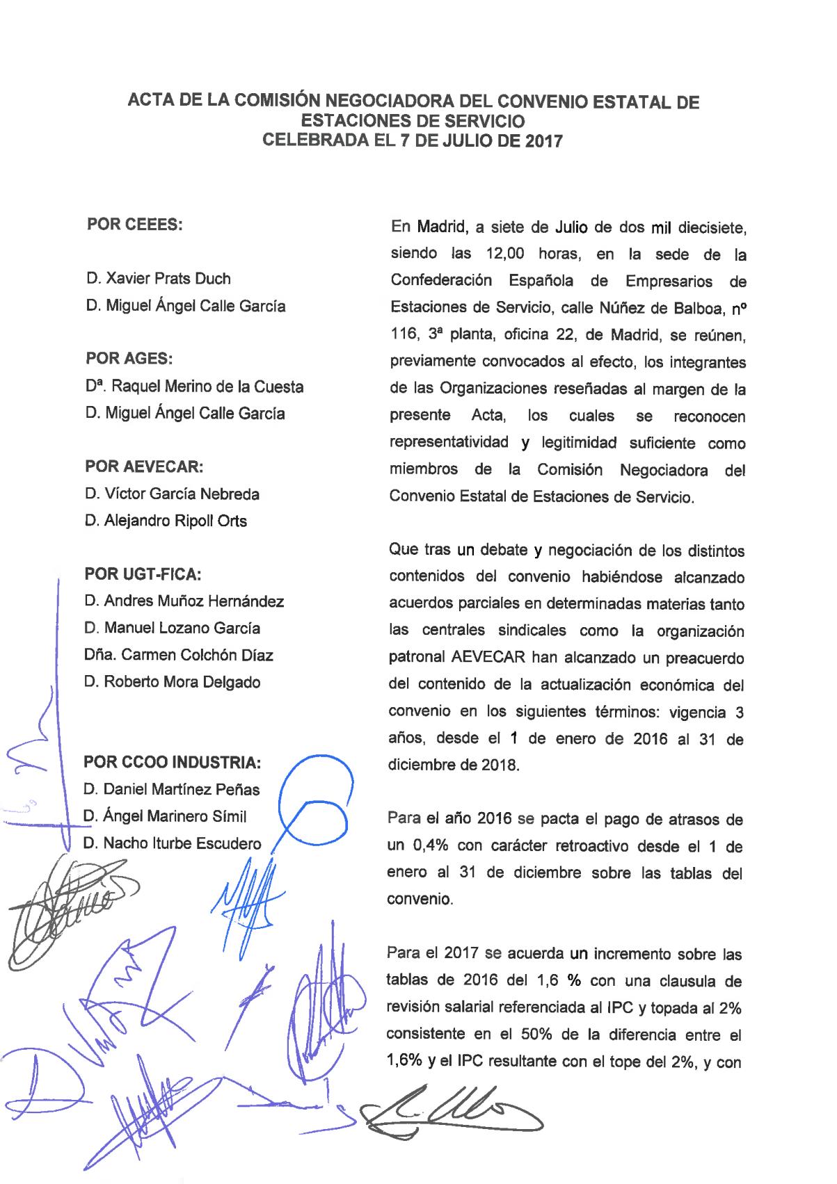 Acta seguimiento convenio estatal 2016 ee ss cedipsa cgt for Convenio jardineria 2016